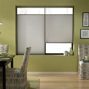 day night open top and bottom honeycomb window cellular shade pleated blind for patio sliding glass doors