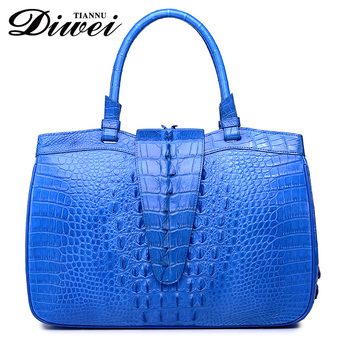 2017 Chinese Trendy Real Crocodile Skin Alligator Las Handbags