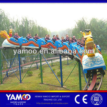 zipper carnival rides double track slide dragon roller coaster for