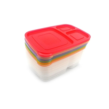 Safe Custom PP Plastic Disposable Bento Lunch Box