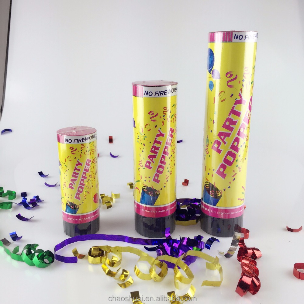 super party poppers with spring mechanism