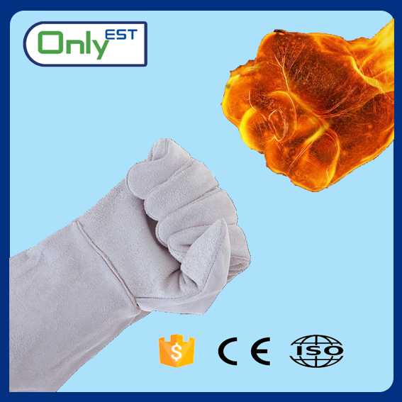 "Top quality factory price 14""/16"" Long leather welding gloves for men"