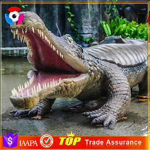 Theme Park Life Size Animatronic Waterproof Crocodile Model For Sale