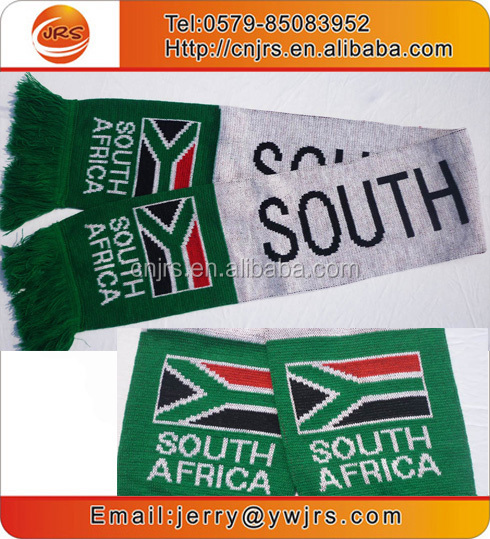 Knit South Africa national flag scarf football team scarf