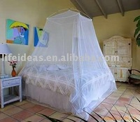 Folded square Mosquito Net ( Square top with lace edge )