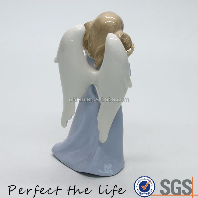 Ceramic Beloved Child's Guardian Angel porcelain Figurine