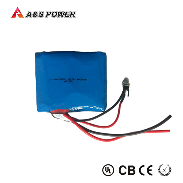 18.5V High discharge rate rechargeable 4400mah lithium 18650 battery life