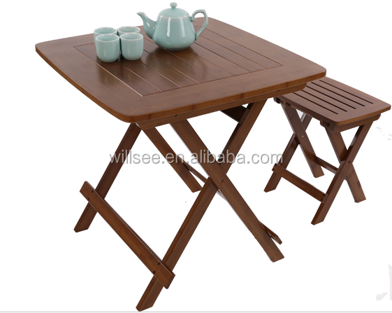 China Bamboo Folding Table Chair Wholesale 🇨🇳 - Alibaba
