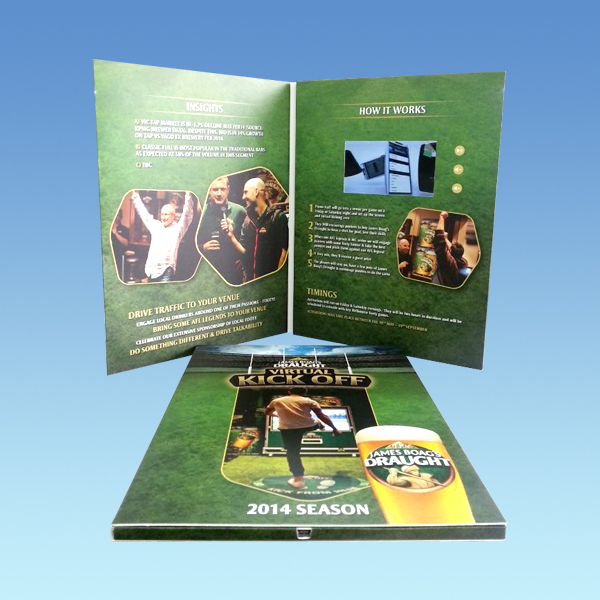 Customized printed a4/a5 4.3inch video brochure booklet/ lcd video brochure/video brochure catalogue for presentation