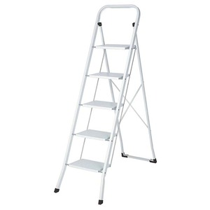 High Quality New Arrival Best Price Household Iron Folding 5 Steps Ladder