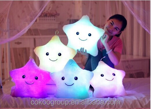 Romantic Gifts light cute pillow popular creative cute gift luminous multi-color led glowing pillow series shape pillow