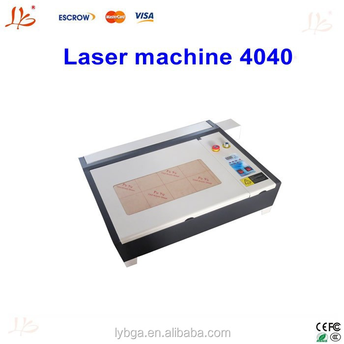 Laser engraving machine LY 4040 with 50W laser tube, honey comb and rotary axis