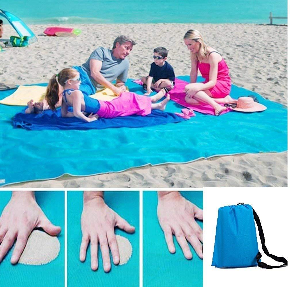 Suncaya Sand Free Beach Blanket, Sand Proof Beach Mat Magic Sand Dirt & Dust Disappear, Lightweight, Compact, Soft, Suitable, Summer Beach, Park, Hiking, Picnic, Outdoor Activities