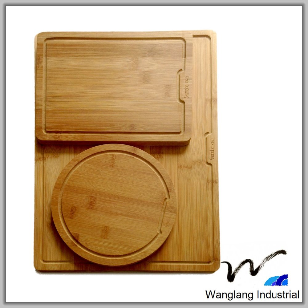 A level product quality suppliers customize the FDA natural color <strong>Bamboo</strong> cutting board set