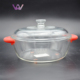 China Supplier Pyrex Borosilicate Glass Cooking Pot Cookware Set Commercial