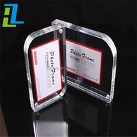 clear acrylic frameless photo frame with led light