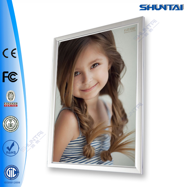 Super bright Poster Advertising Snap Click Open LED Light Frame