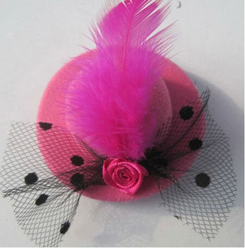 Baby Girl Hair Accessories Birthday Chiffon Hat Party Clip Accessory