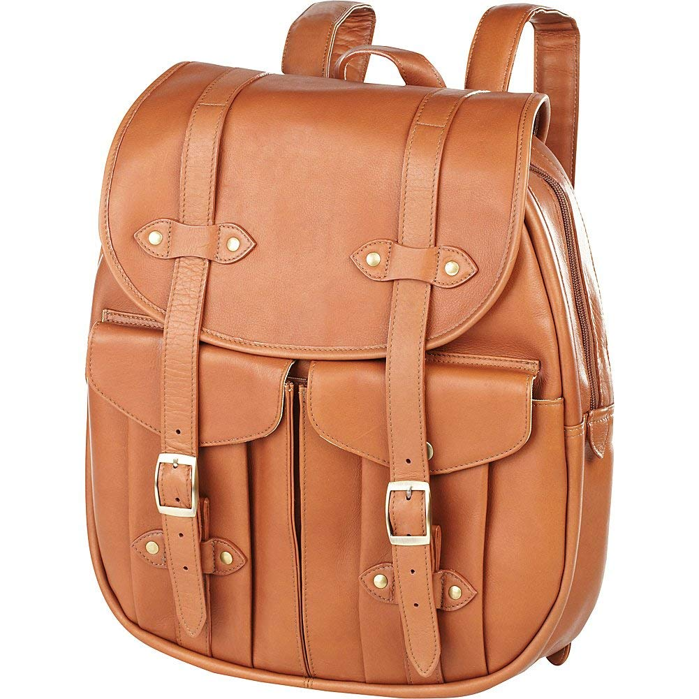 4884a587dd Get Quotations · Clava Leather Rucksack Backpack (Vachetta Tan)