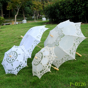 Cotton Lace Umbrella Wedding Supplies Bridal Umbrella Western Court Banquet Wedding Umbrella