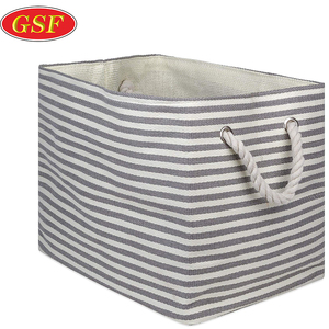 Woven Paper Collapsible Basket Foldable Storage Bin