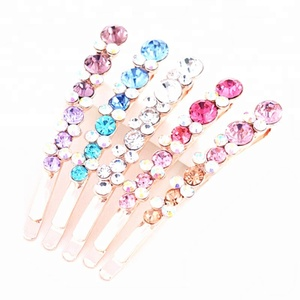 1Pair Women Bling Hairpins Crystal Rhinestone Hair Clips Girls Barrettes Hairpins Hairband Clamp Hair Accessories