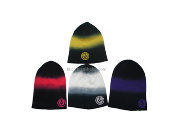 cb96ea20a10 Knitted And Dip Dye Of Beanie Hat - Buy Knitted Baby Hats