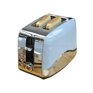 Retro-style Kitchen Cooking Appliances Stainless Steel 2-Slot 2-Slice Toaster Muffins, Waffles,Bagels, Bread