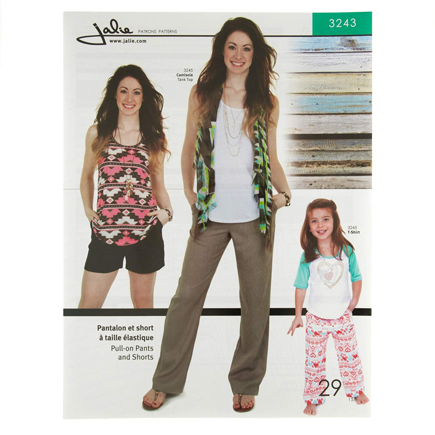 3792bfed7898 Get Quotations · JALIE PATTERNS Jalie Pull-On Pants and Shorts Pattern