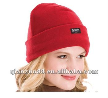 Fashion Ladies Polar Fleece Thinsulate Knitted Hat - Buy Ladies ... 478114530cd
