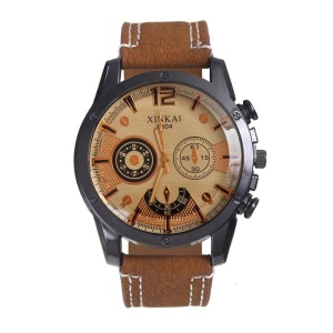 The new stylish black shell with colored watches with quartz watches men's bronze casual style wristwatches