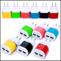 New Arrival US Plug Dual Colors Business Wall Chargers Dual USB 2.1A AC Travel Home Power Adapter Wall Charger for iPhone 7