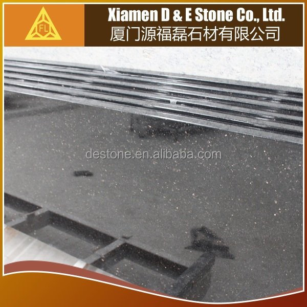 China Shuitou Factory Black Galaxy Granite price bar top