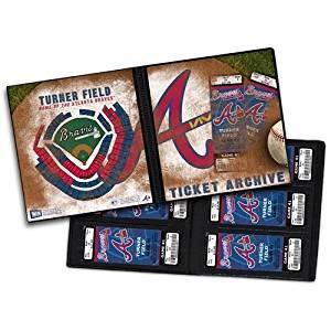 Atlanta Braves Ticket Album, Holds 96 Tickets