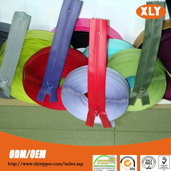 High quality waterproof zipper customised logo for tents Okeotex Certification