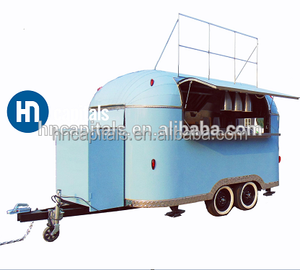Latest glass mobile food truck with customized inside ice cream