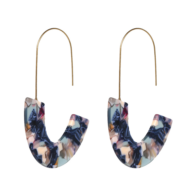 Elegant Women Fashion Resin Acrylic Jewelry <strong>Gold</strong> Fish <strong>Earring</strong> <strong>Hook</strong>
