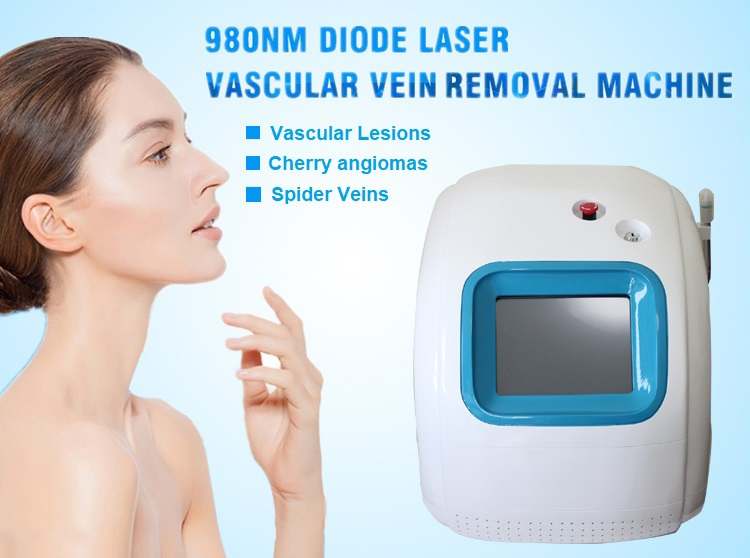 High effective portable 980 nm diode laser for pigmented lesions treatment
