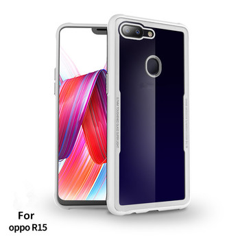 hot sale online 4e559 6595c Duzhi Tpu Cell Phone Case For Oppo R15 Factory Wholesale Clear Glass Back  Mobile Cover Shell - Buy Tpu Cell Phone Case For Oppo R15,Clear Glass Back  ...