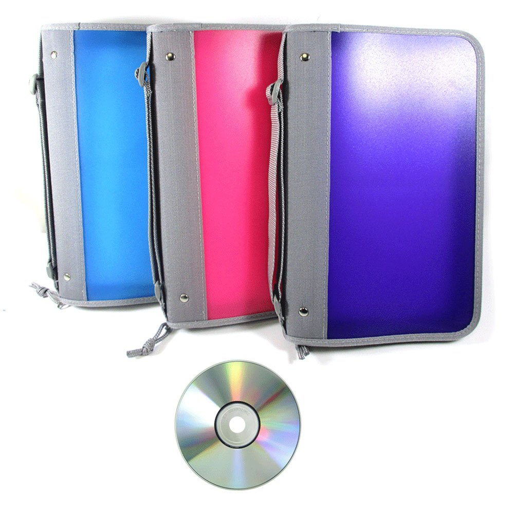 Get Quotations · 2 Pc CD Case Organizer Portable DVD Discs Wallet Holder  Bag Album Media Storage