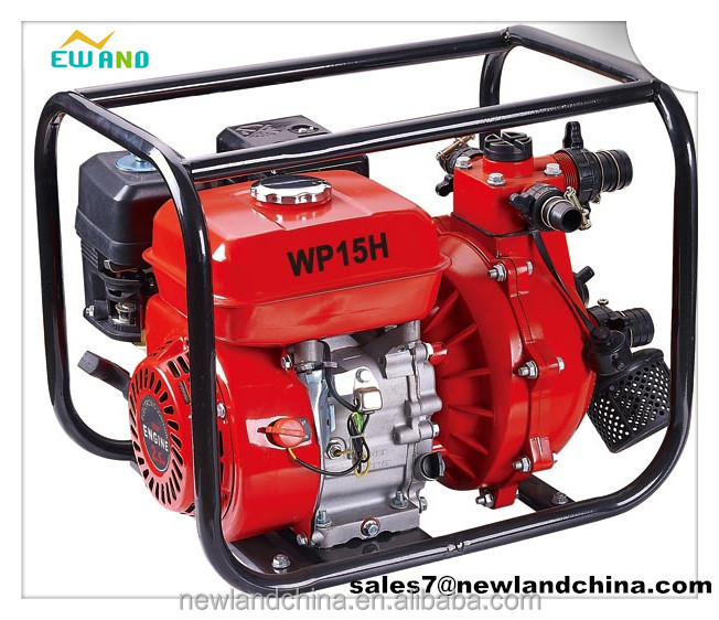 1.5inch/ 6.5HP gasoline high pressure water pump for firefighting,double impellor WP15H
