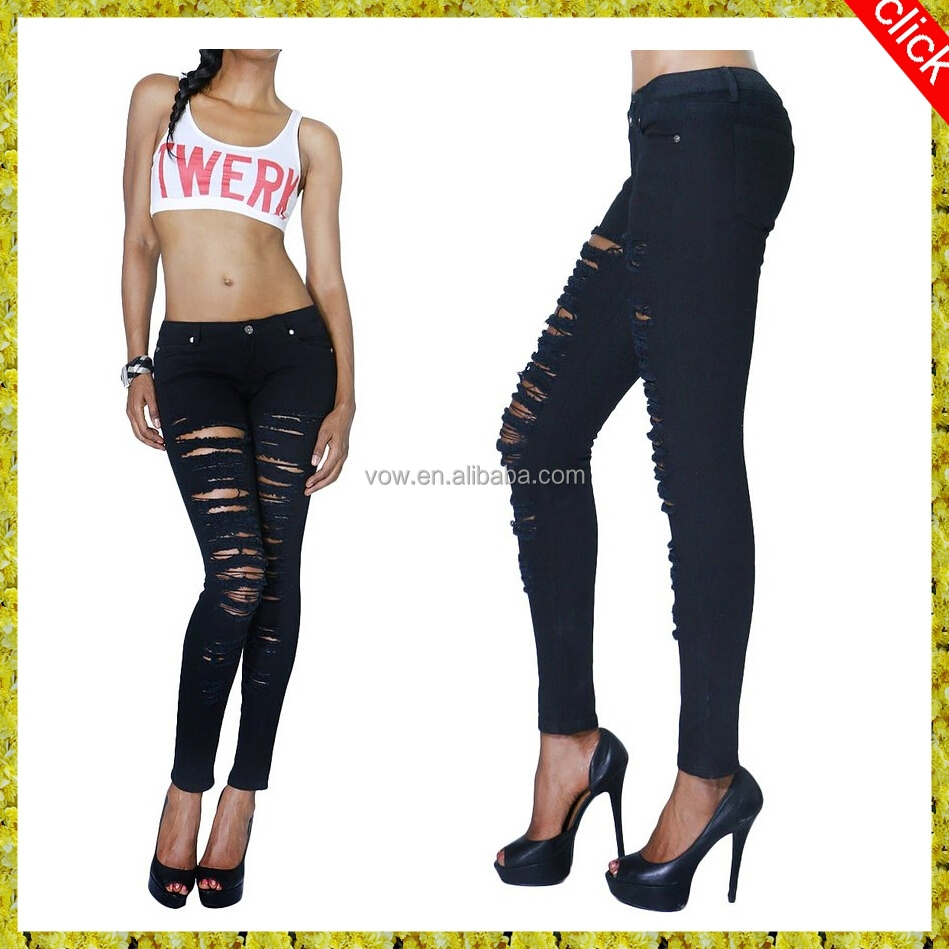 Damaged Jeans Womens