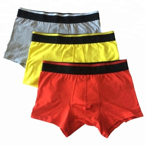 Custom Logo Mens Underwear Stock Men Boxer Shorts Elastic Waistband Men Briefs Boxer