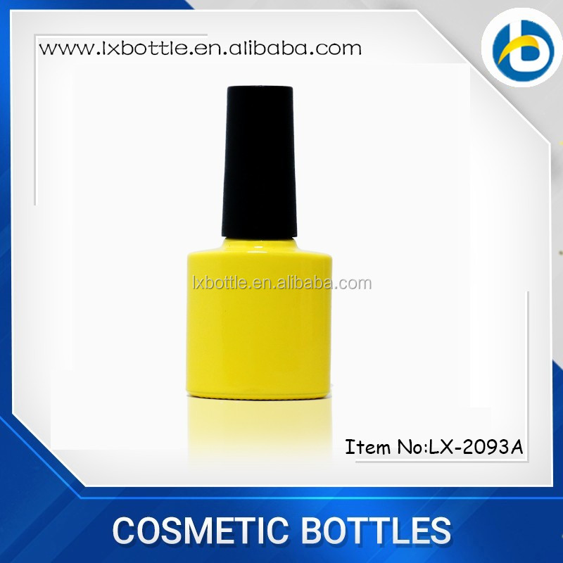 7.8ml screw cap empty uv gel nail polish bottle for makeup