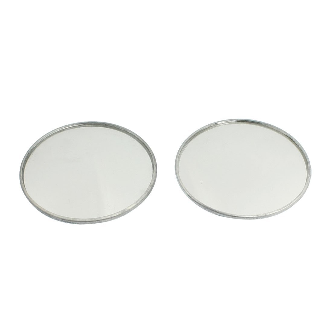 """SODIAL(R) 2 x 1.9"""" Dia Round Metal Casing Convex Car Side Rearview Blind Spot Mirror"""