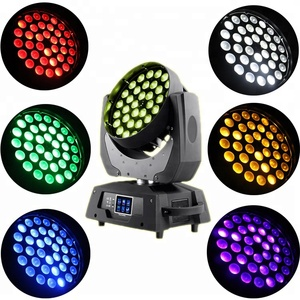 Super 36pcs 18w RGBWA UV 6 in 1 DMX led moving head zoom