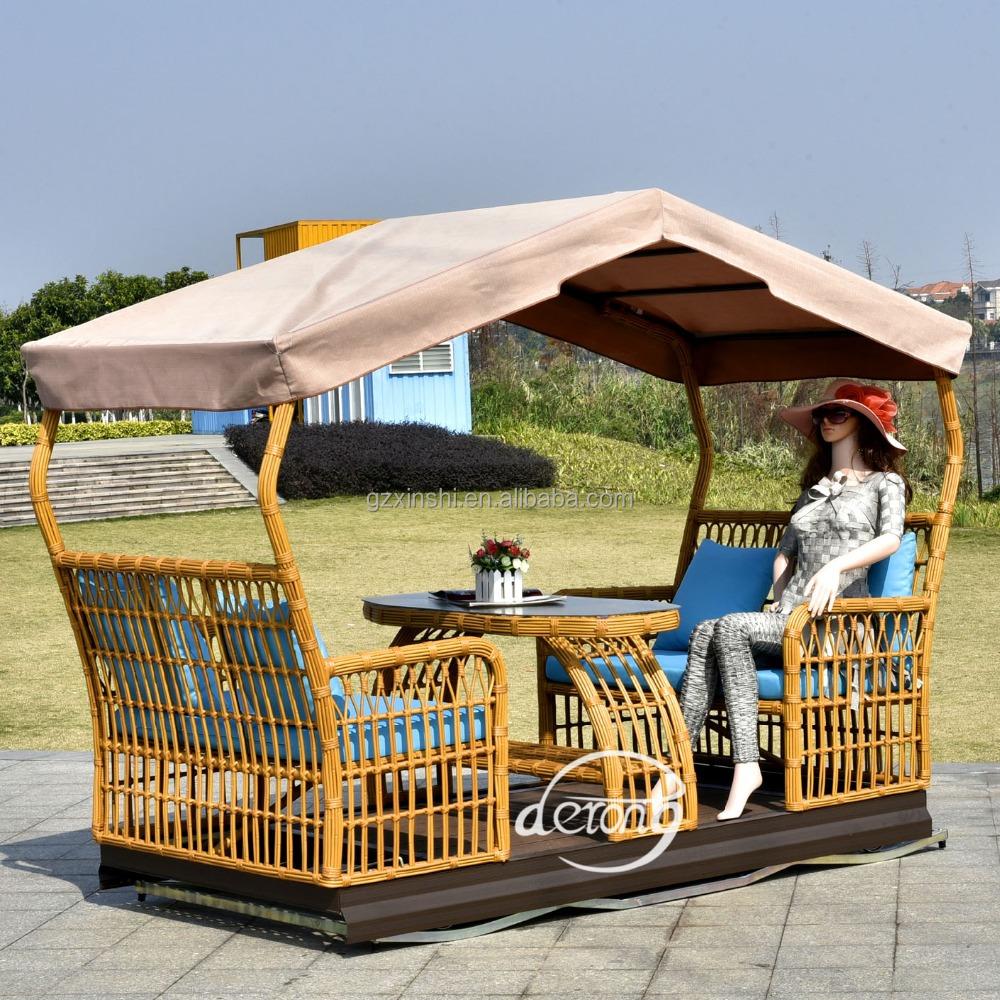Nuevo dise o de mimbre al aire libre 4 asientos columpios for Diseno de muebles de jardin al aire libre