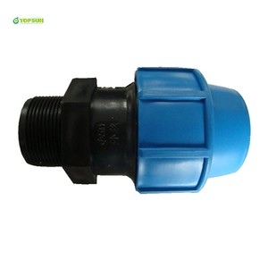 PP Compression Pipe Fittings Male Adaptor PP Plastic Male Adaptor HDPE Plastic Male Adaptor