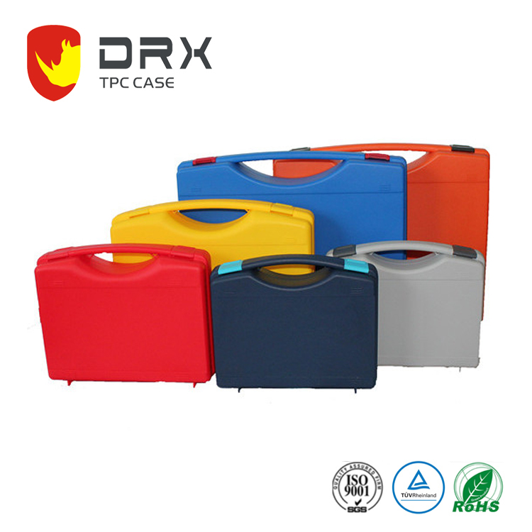 custom colour plastic handle carrying case / plastic hand tool storage box / plastic fishing tool carry box