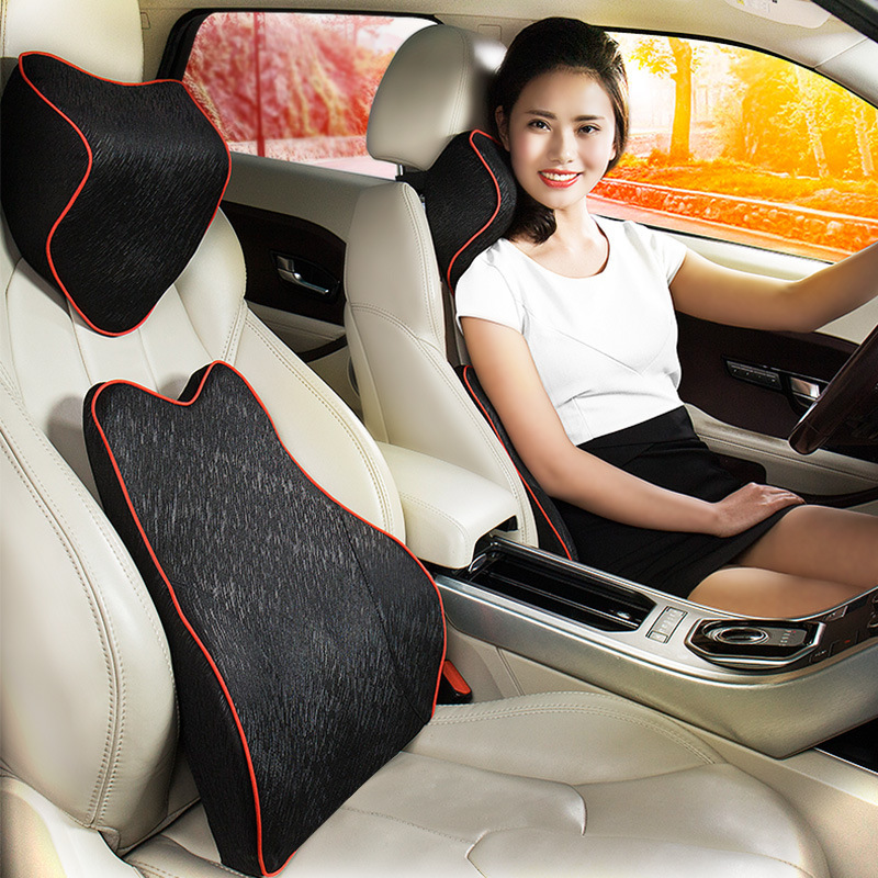 Factory Wholesale Car Accessories Back Lumbar Support Cushion/Car Neck Rest Pillow Kit